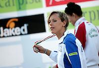 Trofeo Sette Colli di Roma, 19 giugno 2011..Federica Pellegrini lascia il podio dopo aver vinto i 200 metri stile libero donne..Seven Hills trophy in Rome, 19 june 2011..Italy's Federica Pellegrini leaves the podium after winning the women's 200 meters freestyle..UPDATE IMAGES PRESS/Riccardo De Luca