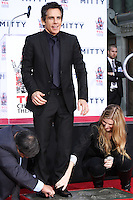 HOLLYWOOD, CA - DECEMBER 03: Ben Stiller attending the Ben Stiller Hand/Footprint Ceremony held at TCL Chinese Theatre on December 3, 2013 in Hollywood, California. (Photo by David Acosta/Celebrity Monitor)