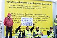 Autodemolitori protestano con i gliet gialli alla Regione
