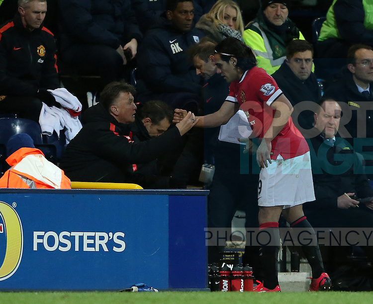 Manchester United's Radamel Falcao looks on dejected after getting substituted<br /> <br /> FA Cup - Preston North End vs Manchester United  - Deepdale - England - 16th February 2015 - Picture David Klein/Sportimage