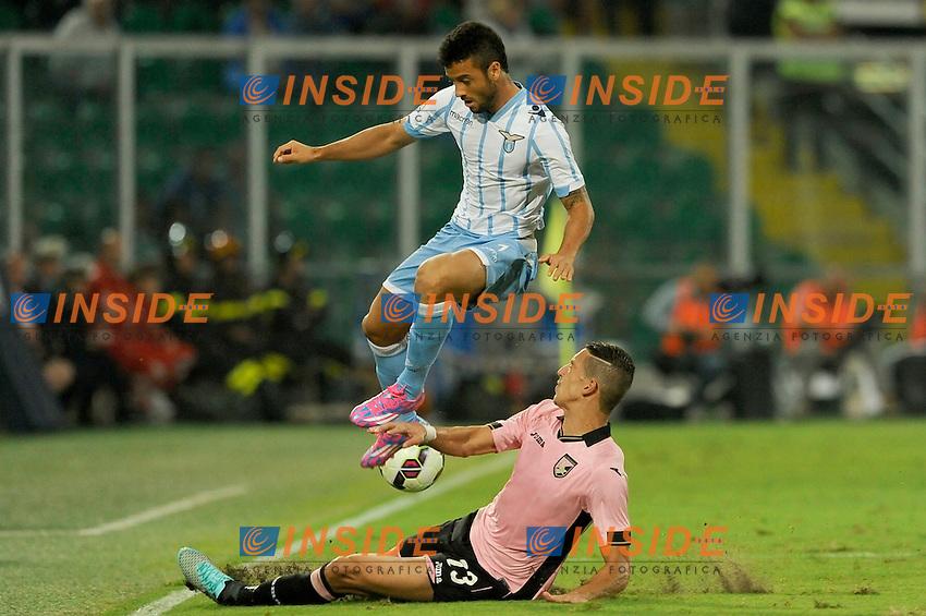 Felipe Anderson Lazio, Zouhair Feddal Palermo <br /> Palermo 29-09-2014 Stadio La Favorita, Football Calcio Serie A Palermo - Lazio. Foto Insidefoto