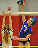 Mattituck No. 5 Kathryn Zaloom, right, attempts to spike during the Suffolk County varsity girls' volleyball Class C final against Babylon at Suffolk Community College Grant Campus on Monday, November 9, 2015. Mattituck won 3-1.
