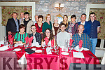 Triple celebrations of Gavin, Megan and Liam Kennedy from Manor Tralee, celebrating their 21st birthday in Cassidys on Saturday night.<br /> Seated l-r, Urusla Gavin, Megan,  Liam and Trevor Kennedy.<br /> Back l-r, John O&rsquo;Sullivan, Fred Kennedy, Aaron Cahill, Bren and Maura Gwenlan, Ann Franklin, Maureen Kennedy, Jade Naughton, Sonia and David Cahill and James Franklin.