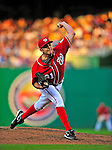 6 June 2009: Washington Nationals' starting pitcher John Lannan throws a complete-game, 4-hitter against the New York Mets at Nationals Park in Washington, DC. The Nationals defeated the Mets 7-1, marking John Lannan's first complete game of his career. Mandatory Credit: Ed Wolfstein Photo