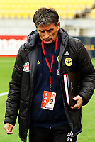 Phoenix assistant coach Rado Vidisic during the A-League football match between Wellington Phoenix and Adelaide United FC at Westpac Stadium in Wellington, New Zealand on Sunday, 8 October 2017. Photo: Mike Moran / lintottphoto.co.nz