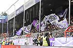 09.11.2019, Stadion an der Bremer Brücke, Osnabrück, GER, 2. FBL, VfL Osnabrueck vs. VfB Stuttgart<br /> <br /> ,DFL REGULATIONS PROHIBIT ANY USE OF PHOTOGRAPHS AS IMAGE SEQUENCES AND/OR QUASI-VIDEO, <br />   <br /> im Bild<br /> Fankurve / Fans / Fanblock / VfL Osnabrück<br /> <br /> <br /> Foto © nordphoto / Paetzel