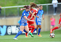Boyds, MD - Saturday August 12, 2017: Morgan Andrews, Estefanía Banini during a regular season National Women's Soccer League (NWSL) match between the Washington Spirit and The Boston Breakers at Maureen Hendricks Field, Maryland SoccerPlex.