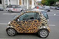 Mini carro Londres. Inglaterra. 2008. Foto de Juca Martins.