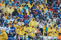 Aficionados  de los Tigres de Monterrey con impermeable para la lluvia.<br /> Baseball action during the Los Angeles Dodgers game against San Diego Padres, the second game of the Major League Baseball Series in Mexico, held at the Sultans Stadium in Monterrey, Mexico on Saturday, May 5, 2018 .<br /> (Photo: Luis Gutierrez)<br /> <br /> Acciones del partido de beisbol, durante el encuentro Dodgers de Los Angeles contra Padres de San Diego, segundo juego de la Serie en Mexico de las Ligas Mayores del Beisbol, realizado en el estadio de los Sultanes de Monterrey, Mexico el sabado 5 de Mayo 2018.<br /> (Photo: Luis Gutierrez)