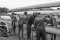 Nottingham. United Kingdom. <br /> <br /> A Masters Crew from Befast RC, de-rigging at the GB Masters Championships, National Water Centre, Holme Pierrepont<br /> <br /> Saturday   10/06/2017<br /> <br /> <br /> [Mandatory Credit Peter SPURRIER/Intersport Images]