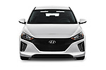 Car photography straight front view of a 2019 Hyundai Ioniq Plug-In Hybrid Base 5 Door Hatchback