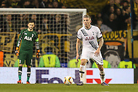 Toby Alderweireld of Tottenham Hotspur during the UEFA Europa League match between Tottenham Hotspur and Borussia Dortmund at White Hart Lane, London, England on 17 March 2016. Photo by David Horn / PRiME Media Images