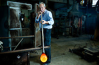 Glass blowers or 'Soffiatori' at the Nasonmoretti Furnace, since 1923, Murano, Venice, Italy