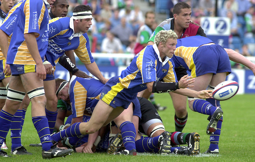 Photo: Greig Cowie.14-09-2002.ZURICH PREMIERSHIP.HARLEQUINS V LEEDS. THE STOOP..Dan Scarbrough