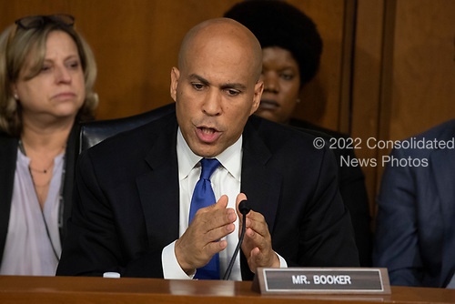 Senator Cory Booker, Democrat of New Jersey, gives his opening statement during the confirmation hearing of Judge Brett Kavanaugh before the United States Senate Judiciary Committee on his nomination as Associate Justice of the US Supreme Court to replace the retiring Justice Anthony Kennedy on Capitol Hill in Washington, DC on Tuesday, September 4, 2018.Credit: Alex Edelman / CNP