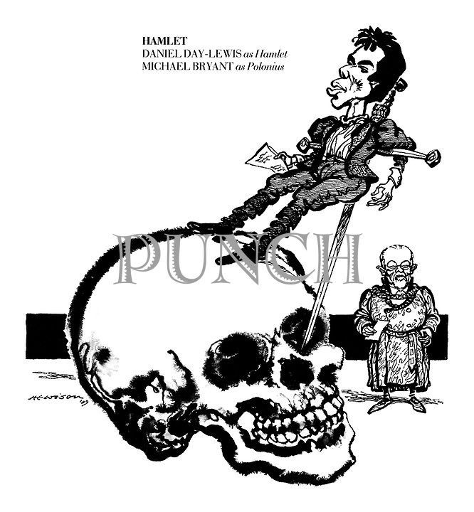 Hamlet. Daniel Day-Lewis as Hamlet, Michael Bryant as Polonius