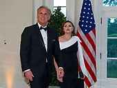 United States House Minority Leader Kevin McCarthy (Republican of California) and Meghan McCarthy arrive for the State Dinner hosted by United States President Donald J. Trump and First lady Melania Trump in honor of Prime Minister Scott Morrison of Australia and his wife, Jenny Morrison, at the White House in Washington, DC on Friday, September 20, 2019.<br /> Credit: Ron Sachs / Pool via CNP