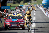 Sepp Kuss (USA/Jumbo-Visma) wins the final stage of the 2020 Dauphiné.<br /> <br /> Stage 5: Megève to Megève (154km)<br /> 72st Critérium du Dauphiné 2020 (2.UWT)<br /> <br /> ©kramon