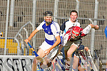 St Brendan's Cian Hussey pulls away from Causeway's Thomas Casey in the semi final of the County hurling championship at Austin Stack park on Saturday.