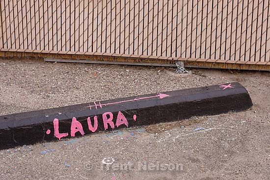 Laura parking block. walking around tucson.&amp;#xA;3.18.2005<br />