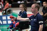 Stephen McGuire (GBR)<br /> BISFed 2018 World Boccia Championships <br /> Exhibition Centre Liverpool<br /> 17.08.18<br /> &copy;Steve Pope<br /> Sportingwales