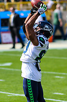 Seattle Seahawks wide receiver Doug Baldwin (89) during a National Football League game against the Green Bay Packers on September 10, 2017 at Lambeau Field in Green Bay, Wisconsin. Green Bay defeated Seattle 17-9. (Brad Krause/Krause Sports Photography)