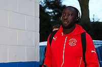 Toumani Diagouraga of Fleetwood Town during the Sky Bet League 1 match between Rochdale and Fleetwood Town at Spotland Stadium, Rochdale, England on 20 March 2018. Photo by Thomas Gadd.