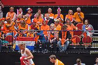 April 18, 2015, Netherlands, Den Bosch, Maaspoort, Fedcup Netherlands-Australia,  Dutch Fans<br /> Photo: Tennisimages/Henk Koster