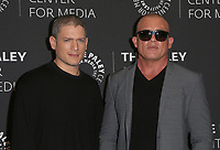 "29 March 2017 - Beverly Hills, California - Wentworth Miller, Dominic Purcell. 2017 PaleyLive LA Spring Season - ""Prison Break"" Screening And Conversation held at The Paley Center for Media. Photo Credit: AdMedia"