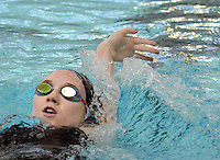 Gwynedd Mercy Academy's Victoria Lange competes in the Girls 200 Individual Medley during the Athletic Association of Catholic Academies Swim Championships Sunday February 14, 2016 at Upper Dublin High School in Upper Dublin, Pennsylvania. She finished 23rd with a time of 2:38.82. (Photo by William Thomas Cain)