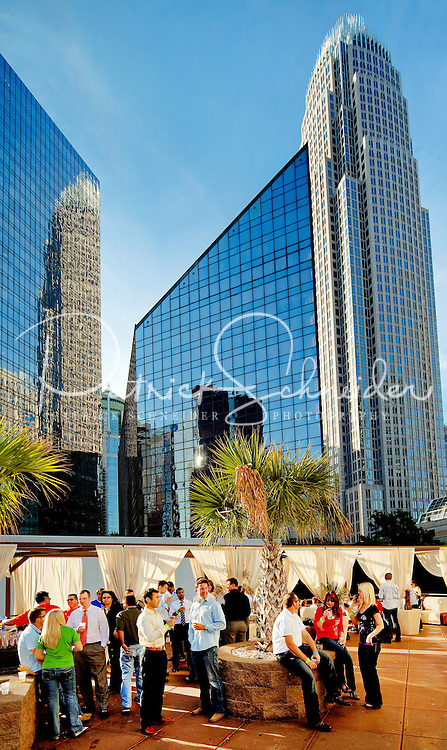 The Epicentre at 210 East Trade Street, Charlotte NC, is a vibrant hub for entertainment, dining, nightlife and more in the heart of uptown Charlotte. The open-air pavilion offers dramatic views of the Charlotte skyline, including Bank of America tower.