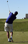 Golf: Golf shot sequence (tee shot on an uphill par 3).