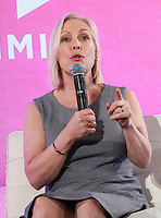 NEW YORK, NY - AUGUST 9: Kirsten Gillibrand at the #WinningWomen discussion at #BlogHer18 Creators Summit in New York City on August 9, 2018. <br /> CAP/MPI99<br /> &copy;MPI99/Capital Pictures