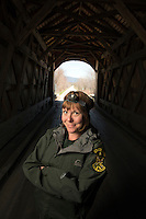 Kerry Monahan is a bat specialist with the Vermont Department of Fish and Wildlife.