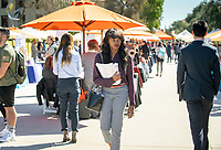 EvaMarie David '19<br /> Occidental College Career Services hosts the Career Fair, open to all students seeking full-time, professional jobs and internships, in the AGC quad on Feb. 19, 2019.<br /> (Photo by Marc Campos, Occidental College Photographer)