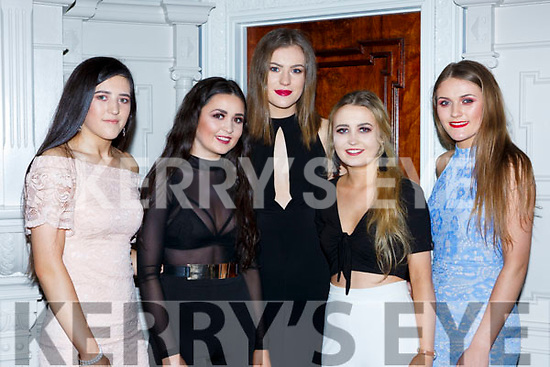 Nicole Moriarty, Shauna Moriarty Killorglin, Amy Dunphy Glencar, Ciara O'Shea Listry and Keeley Mangan Killorglin enjoying the South West Harriers Hunt club social in the Killarney Avenue Hotel on Saturday night
