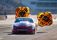 Oct 19, 2019; Ennis, TX, USA; NHRA pro stock driver Erica Enders during qualifying for the Fall Nationals at the Texas Motorplex. Mandatory Credit: Mark J. Rebilas-USA TODAY Sports