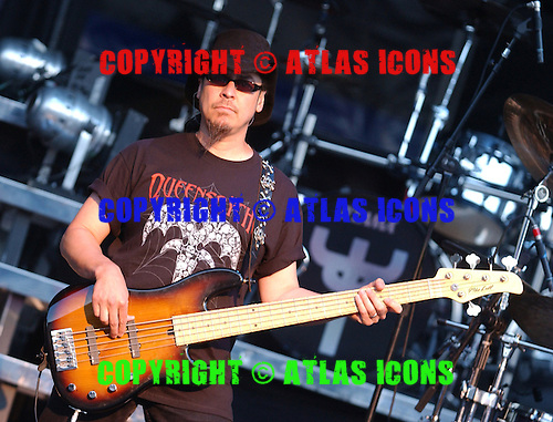 Queensryche; Eddie Jackson; Live, In New York City, On 6-17-2005<br /> Photo Credit: Eddie Malluk/Atlas Icons.com