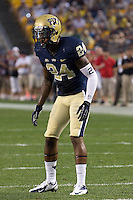 Pitt defensive back Cullen Christian. The Youngstown St. Penguins defeated the Pittsburgh Panthers 31-17 on Saturday, September 1, 2012 at Heinz Field in Pittsburgh, PA.