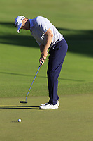 Russell Knox (SCO) putts on the 18th green during Thursday's Round 1 of the 2018 Turkish Airlines Open hosted by Regnum Carya Golf &amp; Spa Resort, Antalya, Turkey. 1st November 2018.<br /> Picture: Eoin Clarke | Golffile<br /> <br /> <br /> All photos usage must carry mandatory copyright credit (&copy; Golffile | Eoin Clarke)