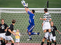 The number 5 ranked Charlotte 49ers play the University of South Carolina Gamecocks at Transamerica field in Charlotte.  Charlotte won 3-2 in the second overtime.  Alex Long (16), Thomas Allen (5)