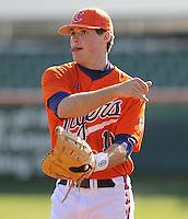 First baseman Ben Paulsen (10) in a game between the Charlotte 49ers and Clemson Tigers Feb. 20, 2009, at Doug Kingsmore Stadium in Clemson, S.C. (Photo by: Tom Priddy/Four Seam Images)