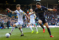 Leeds United's Mateusz Klich gets past Sheffield Wednesday's Morgan Fox<br /> <br /> Photographer Alex Dodd/CameraSport<br /> <br /> The EFL Sky Bet Championship - Leeds United v Sheffield Wednesday - Saturday 13th April 2019 - Elland Road - Leeds<br /> <br /> World Copyright © 2019 CameraSport. All rights reserved. 43 Linden Ave. Countesthorpe. Leicester. England. LE8 5PG - Tel: +44 (0) 116 277 4147 - admin@camerasport.com - www.camerasport.com