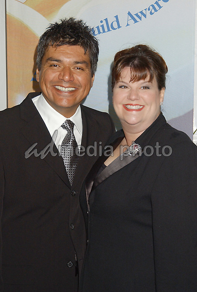 19 February 2005 - Hollywood, California - George Lopez and wife Ann. 57th Annual Writers Guild Awards held at the Hollywood Palladium. Photo Credit: Laura Farr/AdMedia