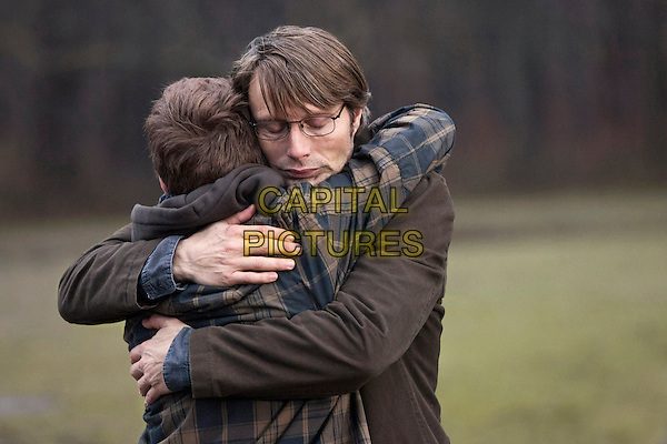 Lasse Fogelstrom and Mads Mikkelsen<br /> in The Hunt (2012) <br /> (Jagten)<br /> *Filmstill - Editorial Use Only*<br /> CAP/FB<br /> Image supplied by Capital Pictures