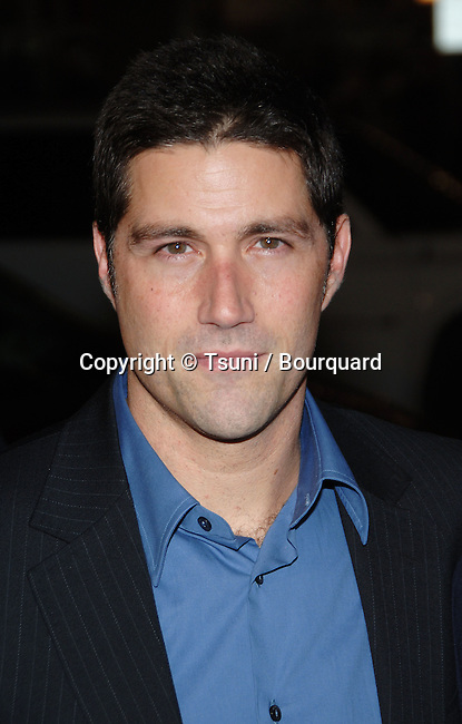 Matthew Fox  arriving at the WE ARE MARSHALL  Premiere at the Chinese Theatre In Los Angeles.<br /> <br /> headshot<br /> eye contact