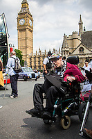 "24.06.2015 - "" #SaveILF Protest in the House of Commons during #PMQs """