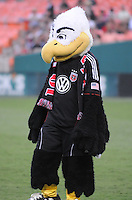 D.C. United mascot Talon. D.C. United defeated The Vancouver Whitecaps FC 4-0 at RFK Stadium, Saturday August 13 , 2011.