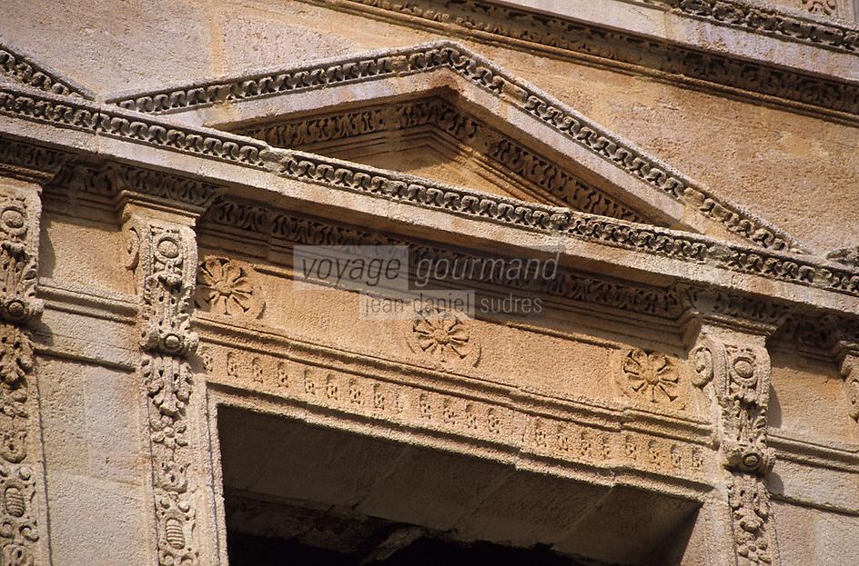 Europe/France/Aquitaine/33/Gironde/Bordeaux: Détail de la façade sculptée du palais