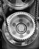 Stock photo of belt and gear
